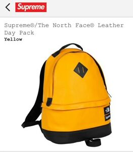 SupremeThe North Face Leather Day Pack Yellow FW17 SOLD OUT