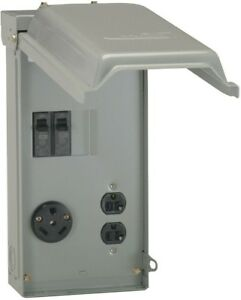 70 Amp Outlet Box Outdoor RV Mini Camp Trailer Power With Padlock Ability