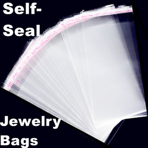 2x100 Clear Resealable Recloseable Plastic Self Adhesive Bag Cello Lipamp;Tape Bags