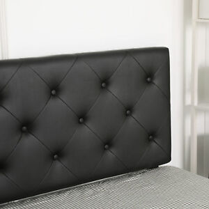 Twin Size Headboard PU Diamond Pattern with 4 Adjustable Positions