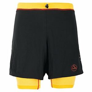 La Sportiva Men's Rapid Running Short – Running Shorts for Men with Liner Bl...
