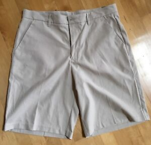 NWT ASHWORTH  Stone Color Men's Flat Front Dress Casual Golf Shorts -  Sz 34