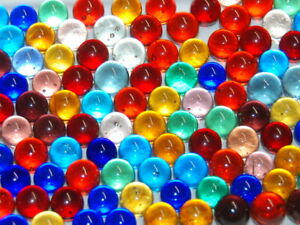 200 Mixed Clearie Lot Marbles Orange,Blue,Purple,Yellow,Gr,Red,Pink,Cobalt ETC