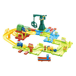 Hey! Play! 58 Piece Kids Train Track Toys and Accessories Pretend Play Set Build
