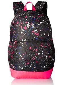 Girls Backpack Under Armour Water-Resistant School Supplies BlackMetalic Silver