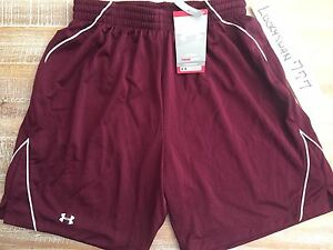 NWT $35 UNDER ARMOUR BASKETBALL SHORTS WOMENS S MAROON DRI-FIT 7