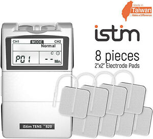 The istim Premium EV 820 2 Channel Tens unit Machine Pain relief Management OTC