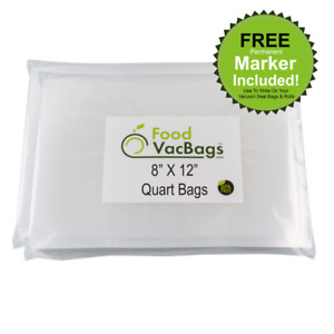 8quot; x 12quot; Quart FoodVacBags™ Vacuum Sealer Bags for Food Saver Buy More Save More $19.99