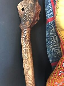 Old Papua New Guinea Carved Cassowary Dagger  …beautiful collection piece