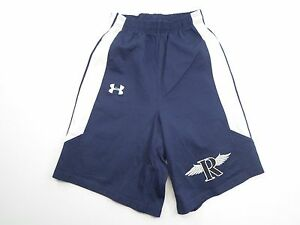 UNDER ARMOUR Kid'sBoy's Size M8-10 NavyWhite  Pleated Stretch Shorts