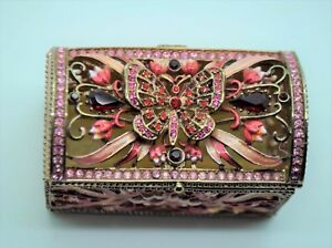 Gorgeous Decorative Butterfly Antique gold color Jewelry Box Storage gift items