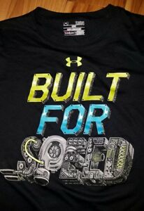Boys Youth Under Armour Short Sleeve T-Shirt Size Large L Built For Speed