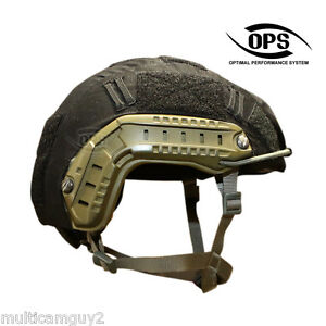 OPSUR-TACTICAL HELMET COVER FOR OPS-CORE FAST HELMET IN BLACK - L-XL