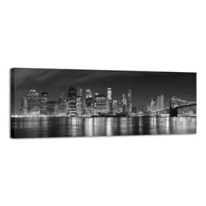 Large Canvas Print Painting Picture Photo New York City Bridge Gray Wall Art Dec