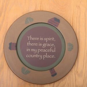 There Is Spirit There Is Grace In My Peaceful... Decorative Wood Plate Decor