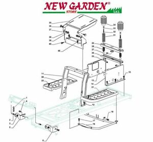 Exploded View Frame Mower Lawn Mower Sd108 Xd 175hd Parts Castelgarden 2002-13