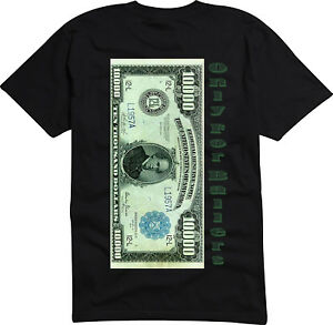 10000 Dollar Bill Exclusive Shirt Only For The Wealthy. Only For Ballers