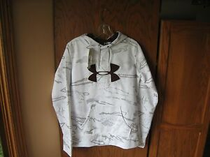 NWT Under Armour Women's Cold Gear Snow Camo Hoodie M Free Shipping Burgundy