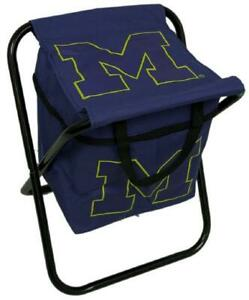 Michigan Wolverines NCAA College Football Tailgate Party Gift Quad Cooler Chair