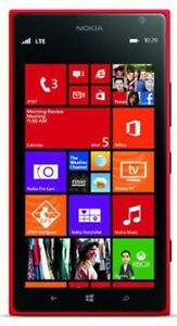 Nokia Lumia 1520 16GB Red AT&T Excellent Condition Smartphone