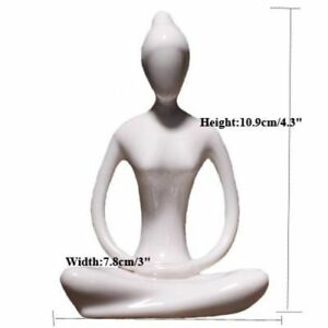 Abstract Art Ceramic Yoga Pose Figurine Porcelain Lady Statue Different Poses