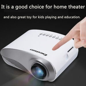 Mini LCD LED Projector Home Theater Cinema HDMI USB AV VGA Portable Multimedia