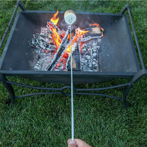 Telescoping Roasting Fork Sticks Camping Campfire Marshmallow Hot Dog Skewer New