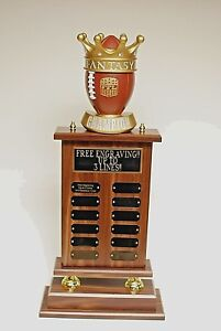 FANTASY FOOTBALL CHAMPION TROPHY 26quot; 12 YEAR FREE ENGRAVING SHIPS IN 1 DAY