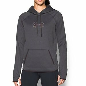 Under Armour Women's Icon Caliber Hoodie Carbon Heather X-Large