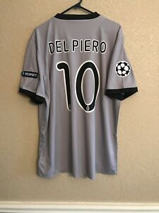 Italy Juventus Del piero Maglia XL Nike Soccer CL Jersey Football Shirt