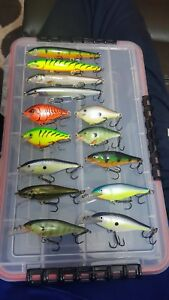 Lot of 14 Rapala Scatter Rap Shad Crank Minnow crankbait fishing lures