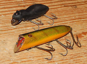 Heddon Basser with Heavy Duty Hardware & Meadow Mouse Fishing Lure Pair