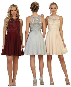 SHORT BRIDESMAIDS DRESSES CUTE GRADUATION HOMECOMING PROM COCKTAIL UNDER $100