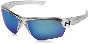 Under Armour Menace Shiny Crystal Clear  Frosted Clear Grey Blue Sunglasses
