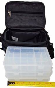 Ozark Trail Blue Soft-Sided Fishing Tackle Storage Bag with 3 Utility Boxes 11x7