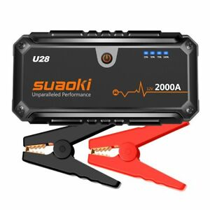 Suaoki U28 2000A Peak Jump Starter Pack for ALL Gas or 8.0L Diesel Engines with