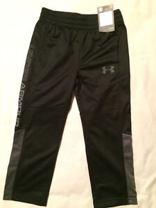 Under Armour Boys Sweatpants Warm Up Athletic Pant Black Gray Basketball Shoes 4
