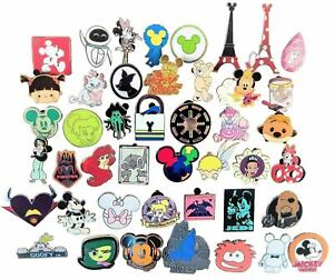 Disney Pin Trading 30 Assorted Pin Lot Brand NEW Pins No Doubles Tradable $19.95