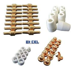 46pcs Consumables for Plasma Cutter 40D CUT40 50D CUT50 Electrodes Tips Nozzle $14.77