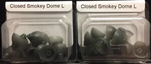 2 Packs of Closed Smokey Domes Large For Phonak Hearing Aids. 20 Domes total. $15.99