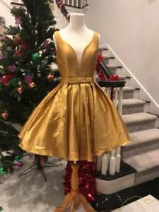 Size 6 in stock Sexy gold Short Prom Dress Homecoming Dress Cocktail