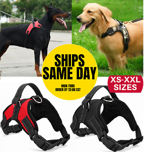 No Pull Dog Pet Harness Adjustable Control Vest Dogs Reflective XS S M Large XXL $10.78
