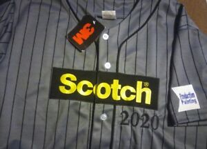 3m Scotch Tape Production Painting Button Down Baseball Jersey (L) Uniform Shirt