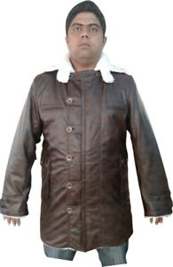 Bestzo Men#x27;s Fashion Bane Coat With Shearling Distressed Leather Sizes XS 5XL $209.00