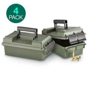 4 PACK MTM 30 Caliber Military Ammo Cans Rugged Water Resistant Storage Box Case