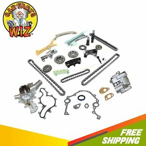 Timing Chain Kit WGears Cover Gasket Set Water Oil Pump Fits 97-09 Ford SOHC