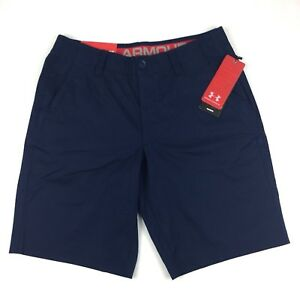 Under Armour Shorts Golf Performance Chino 34 Blue Navy UA Pockets MSRP $69.99