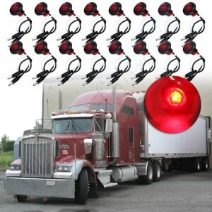 20x 34'' Red Side Marker Clearance Bullet Light for Off-road Pickup Wagon SUV