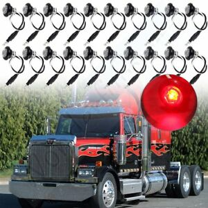20x 34'' Red Side Marker Clearance Bullet Light for Off-road Pickup Wagon Jeep