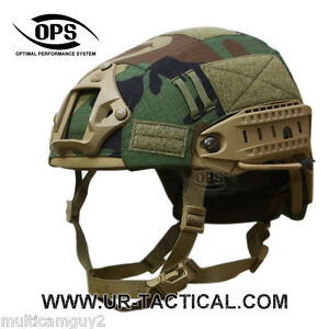 OPSUR-TACTICAL HELMET COVER FOR AIRFRAME IN WOODLAND CAMO-MEDIUM